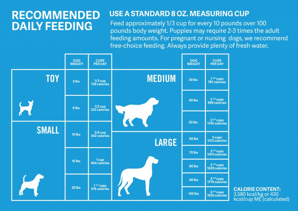 dog food feeding chart